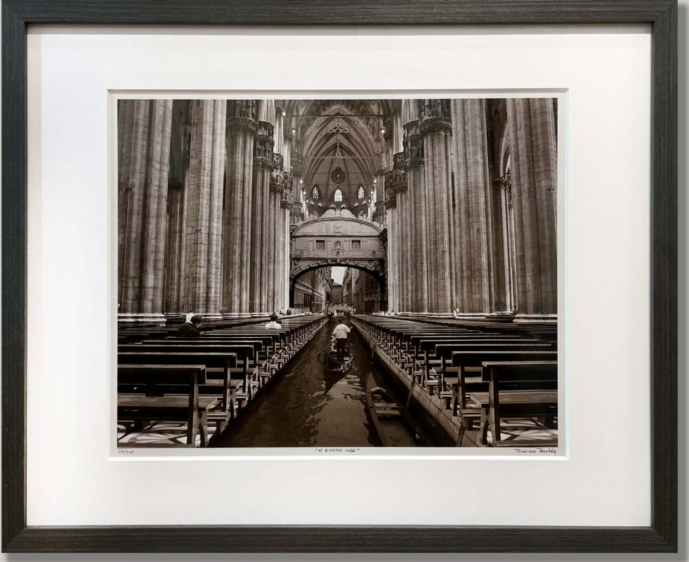 Fine Art Photo White Matboard Border Charcoal Wood Frame